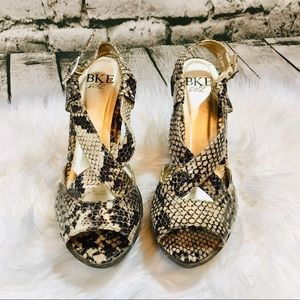 BKE Leather Faux Snake Sandals